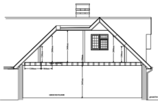 line drawing of a loft conversion