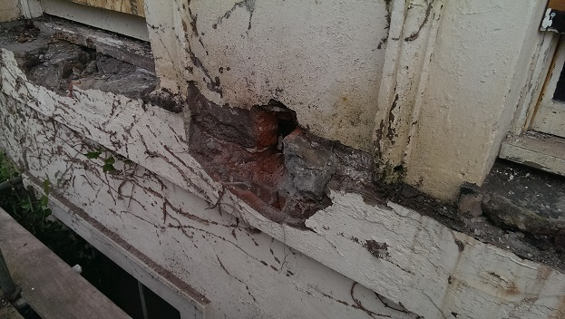 Damage caused by fire escape
