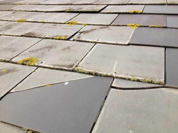 Cracked and broken slates
