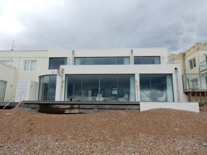 Rear View of 4 Western Esplanade, Hove, abutting the beach.