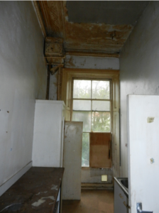 Regency kitchen in disrepair