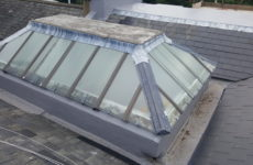 Central roof light, before, roof