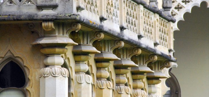 Column details on a Regency building in Brighton