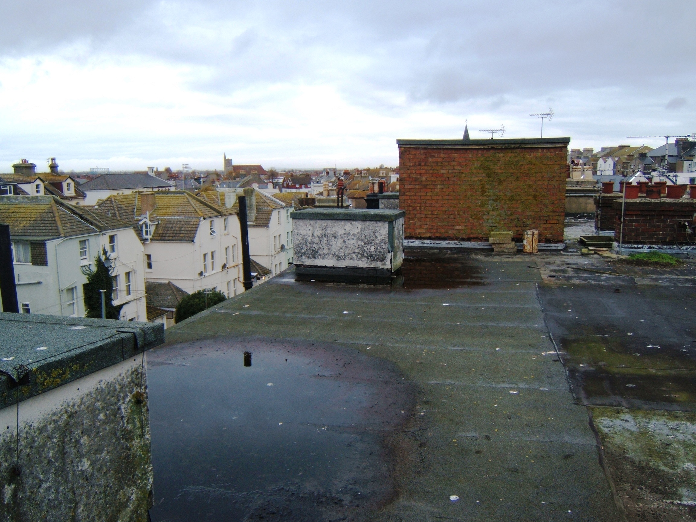 Flooding on roof