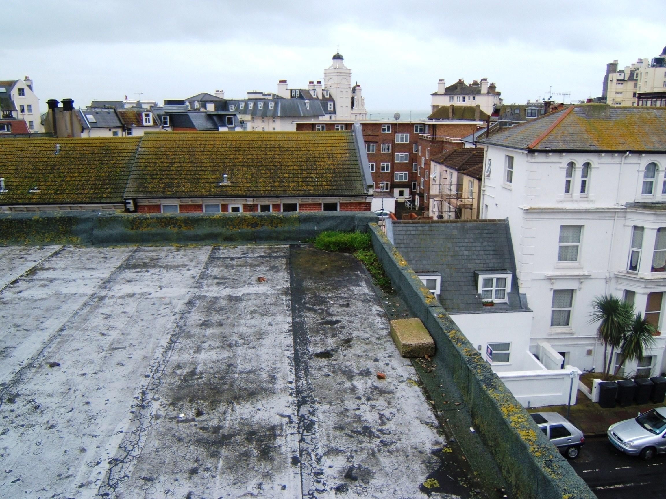 Cracks to asphalt roof covering