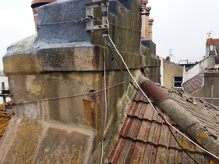 Chimney Stack & Concrete Roof