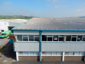 Aerial view of Premier House, Hangar 1, Shoreham Airport