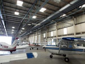 Interior of Premier House Aircraft Hangar 1, Shoreham Airport