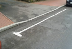 Image of a dropped kerb for a drive